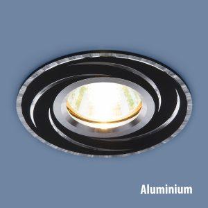 Алюминиевый точечный светильник Elektrostandard 2002 MR16 BK/SL черный/серебро