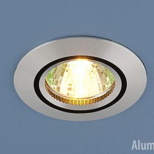 Алюминиевый точечный светильник Elektrostandard 5106 сатин. серебро/черный