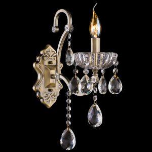 Бра с хрусталем 3108/1 античная бронза / прозрачный хрусталь