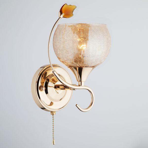 Бра 3457/1H золото/коричневый