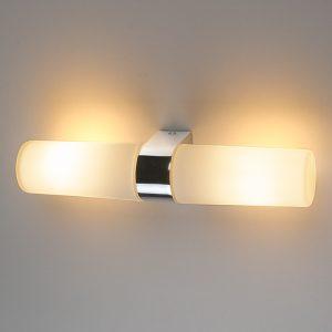 Влагостойкий  настенный  светильник Elektrostandard Round 2 х 42W хром