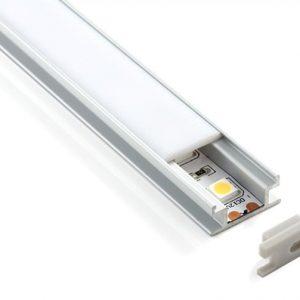 Встраиваемый напольный алюминиевый профиль  для светодиодной  ленты Elektrostandard LL-2-ALP002