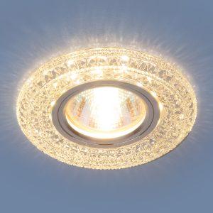 Встраиваемый потолочный светильник со светодиодной подсветкой Elektrostandard 2160 MR16 CL прозрачный