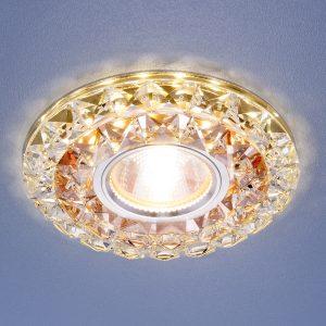 Встраиваемый потолочный светильник со светодиодной подсветкой Elektrostandard 2170 MR16 GC CL тонированный прозрачный