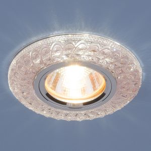 Встраиваемый потолочный светильник со светодиодной подсветкой Elektrostandard 2180 MR16 PK розовый