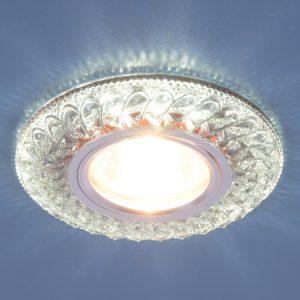 Встраиваемый потолочный светильник со светодиодной подсветкой Elektrostandard 2180 MR16 SB дымчатый