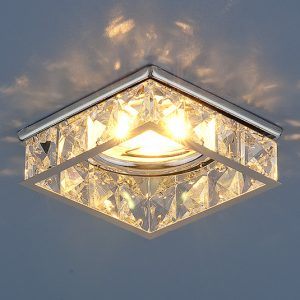 Встраиваемый потолочный светильник Elektrostandard 7274 MR16 CH/CL хром/прозрачный