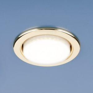 Встраиваемый светильник с цоколем GX53 Elektrostandard HM GX53 золото (GL)