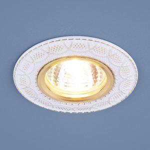 Встраиваемый светильник Elektrostandard 7010 MR16 WH/GD белый/золото