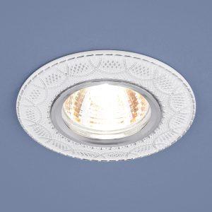 Встраиваемый светильник Elektrostandard 7010 MR16 WH/SL белый/серебро