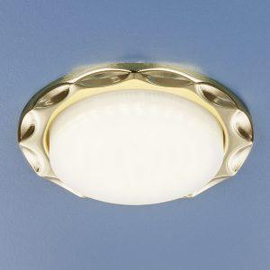 Встраиваемый точечный светильник Elektrostandard 1064 GX53 GD золото