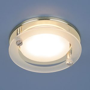 Встраиваемый точечный светильник Elektrostandard 1068 GX53 GD золото