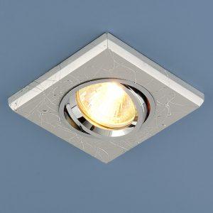 Квадратный точечный светильник Elektrostandard 2080 MR16 SL серебро