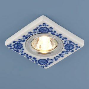 Керамический светильник Elektrostandard 9034 керамика бело-голубой  (WH/BL)