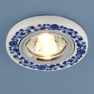 Керамический светильник Elektrostandard 9035 керамика бело-голубой  (WH/BL)