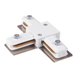 Коннектор Т-образный для однофазного шинопровода Elektrostandard TRC-1-1-T-WH белый