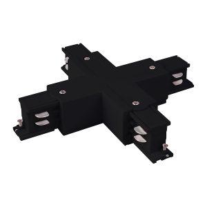 Коннектор X-образный для трехфазного шинопровода Elektrostandard TRC-1-3-X-BK черный