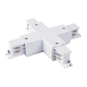 Коннектор X-образный для трехфазного шинопровода Elektrostandard TRC-1-3-X-WH белый