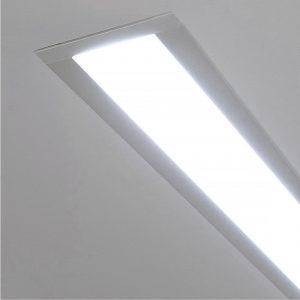 Линейный светодиодный встраиваемый светильник Elektrostandard LS-03-128-21-6500-MS без заглушки
