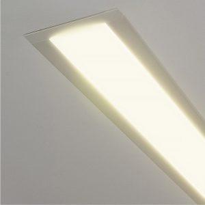 Линейный светодиодный встраиваемый светильник Elektrostandard LS-03-53-9-3000-MS без заглушки