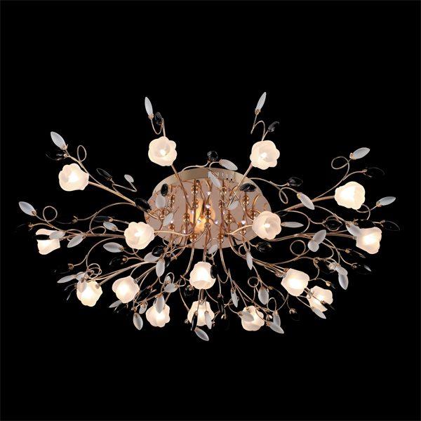 Люстра потолочная со светодиодной подсветкой 5122/16 золото/белый