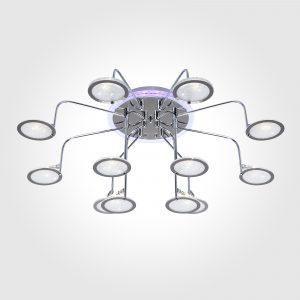 Люстра потолочная со светодиодной подсветкой 80109/12 хром