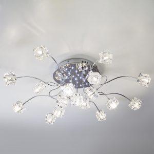 Люстра потолочная со светодиодной подсветкой 80113/17 хром/белый