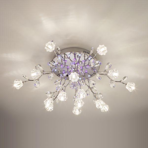 Люстра потолочная со светодиодной подсветкой 80115/15 хром