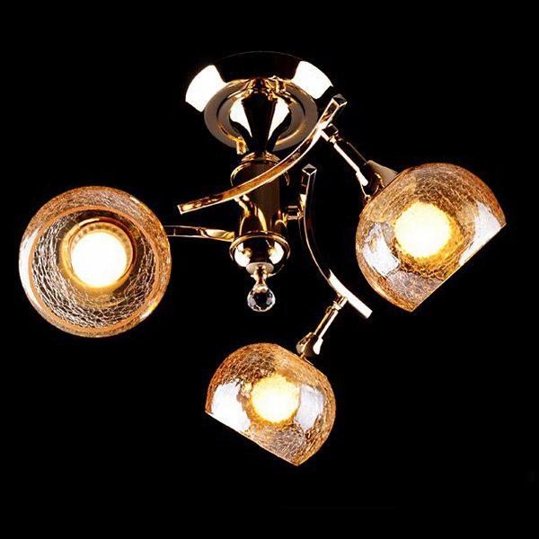 Люстра 3353/3Н золото / коричневый