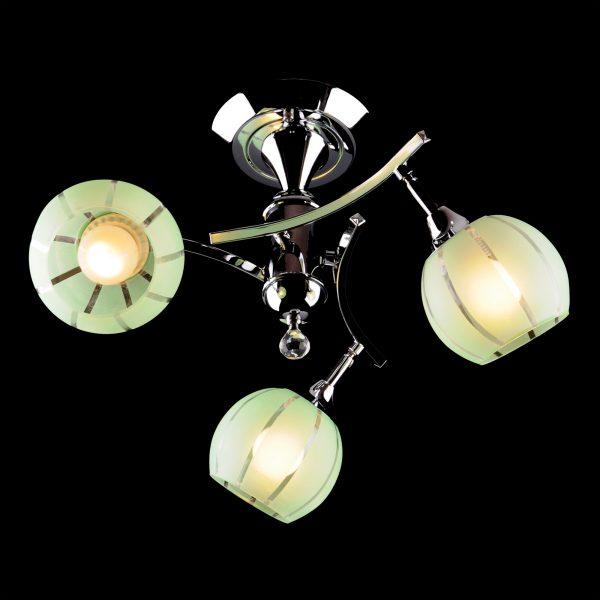 Люстра 3353/3 хром/зеленый