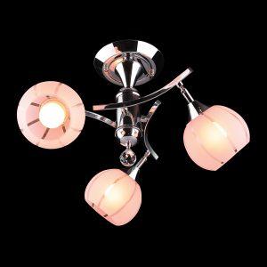 Люстра 3353/3 хром/розовый