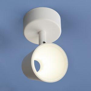 Настенно-потолочный светодиодный светильник Elektrostandard DLR025 5W 4200K белый матовый