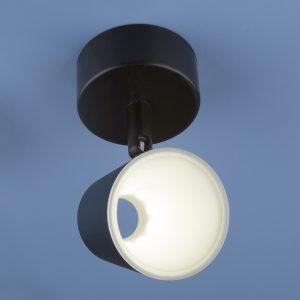 Настенно-потолочный светодиодный светильник Elektrostandard DLR025 5W 4200K черный матовый
