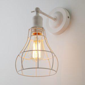 Настенный светильник в стиле лофт 50063/1 белый