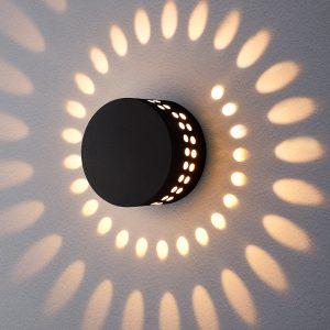 Настенный уличный светильник Elektrostandard 1585 Techno LED Arkada черный
