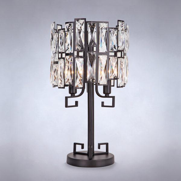 Настольная лампа с хрусталем 01093/3 Strotskis