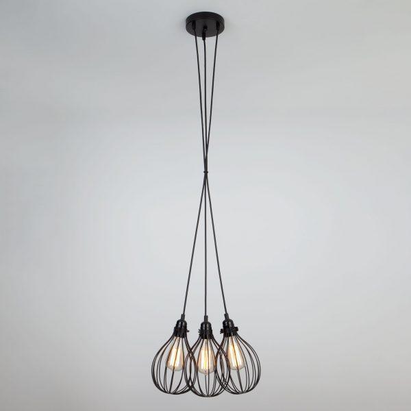 Подвесной светильник в стиле лофт 50059/3 черный