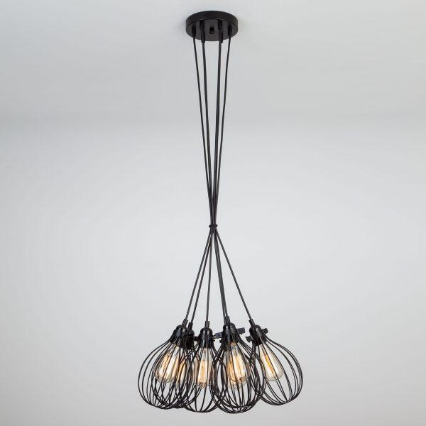 Подвесной светильник в стиле лофт 50059/6 черный