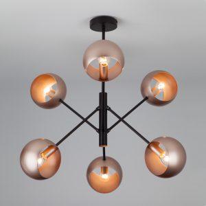 Подвесной светильник в стиле лофт 70057/6 перламутровое золото