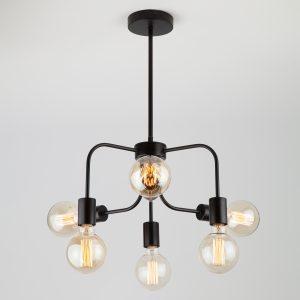 Подвесной светильник в стиле лофт 70058/6 черный