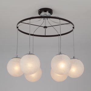 Подвесной светильник в стиле лофт 70069/6 хром/черный