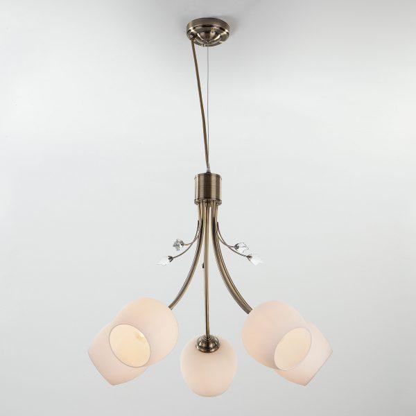 Подвесной светильник 30123/5 античная бронза