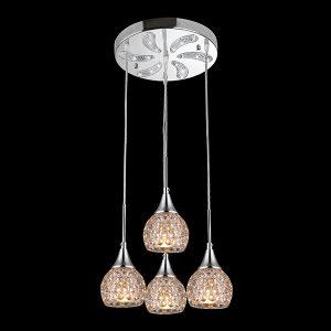 Подвесной светильник 50082/4 хром/белый