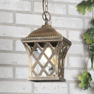 Подвесной уличный светильник Elektrostandard Cassiopeya H черное золото