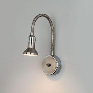 Подсветка с гибким проводом 1215 Plica никель/хром