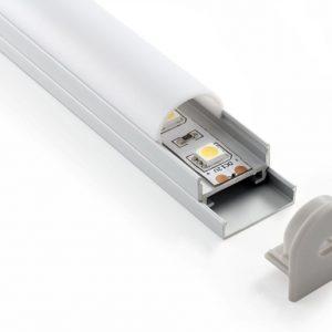 Потолочный алюминиевый профиль для светодиодной ленты