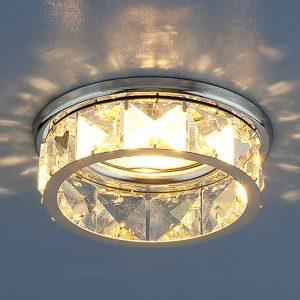 Светильник точечный с хрусталем Elektrostandard 7275 MR16 CH/CL хром/прозрачный