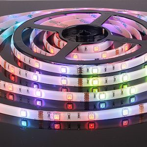 Светодиодная лента Elektrostandard 5050/30 LED 7.2W IP65 [белая подложка] мультиколор