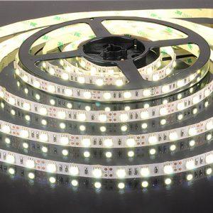 Светодиодная лента Elektrostandard 5050/60 LED 14.4W IP20 [белая подложка] белый свет