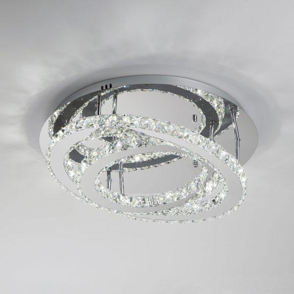 Светодиодная люстра с хрусталем 90066/2 хром